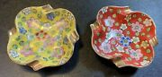 Set Of 2 Vintage Personal Purse Ashtray Handpainted Apco Made In Japan