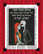 Nightmare Before Christmas Wall Decor Jack And Sally I See Your Scars. Inspirati