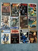 Assorted Comic Lot Walking Dead Halo Mass Effect Quantum And Woody Conan