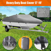 20and039 21and039 22and039 Heavy Duty 600d Boat Cover Universal Fishing Bass Speedboat Hbh3q