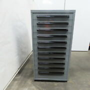 Equipto 11 Drawer Industrial Parts Tool Storage Shop Cabinet 30x28x59
