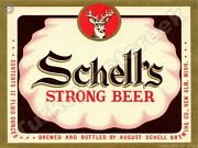 Schell's Strong Beer Label 9 X 12 Sign