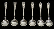 And Co Winthrop 6 Sterling Silver 5 1/4 Bullion Soups Spoons Nm