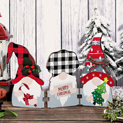 Christmas Wood Gnome Table Decoration Gnome Sign Xmas Home Decor Wooden Folding