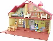 Bluey Blue Heeler Dog Family Home - House Playset Pack And Go For Kids
