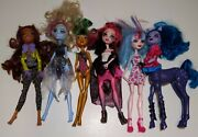 Monster High Doll Lot Of 6 With Some Clothes And Shoes - Loose Dolls