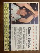 1961 Post Chuck Stobbs 94 Nm-mt++ Beautiful Card Grade Worthy+ Perforated