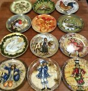 Pottery Barn 12 Days Of Christmas Complete Set In Box Salad Dessert Plates