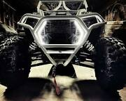 Landw Fab Race Style Front Winch Bumper With Brow For 2019+ Polaris Rzr Xp Turbo
