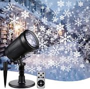 Christmas Snowflake Projector Lights Weatherproof Led Projector Outdoor And Indo