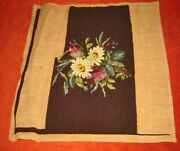 Needlepoint Petit Point Daisy Chair Cover Antique Furniture Floral Flower