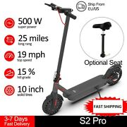 Electric Scooter S2 Pro 500w Powerful Motor 10in Solid Tire 40km/h With Seat