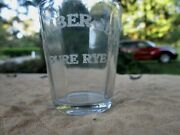 Vintage Bombergers Pure Rye Whiskey Shot Glass Pre Michters Schaefferstown Pa
