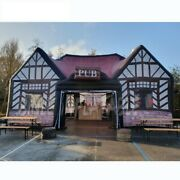 Outdoor Party 10x6m Traditional English Local Inflatable Bar Pub Printing Iris