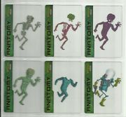 2013 Mars Attacks Invasion Anatomy Complete Set Of 6 Acetate Chase Cards 1-6