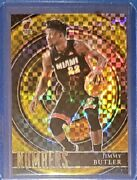 Jimmy Butler 2020-21 Panini Select Numbers Gold Prizm /10