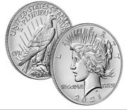 Set Of 6 2021 Peace And Cc, O, S, D, P Morgan Silver Dollars- Order Confirmed