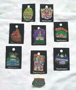 Tokyo Disneyland Attraction Area Map Pin Badge Mickey Minnie Limited Rare