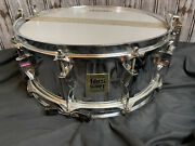 1970and039s Fibes Buddy Rich 5.5 X 14 Chrome Over Fiberglass Cof Snare Drum Vintage