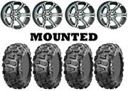 Kit 4 Cst Abuzz Tires 26x9-12 On Itp Ss212 Machined Wheels Sra