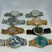 Lot 8 Fossil Men And Women Watch Very Good Condition