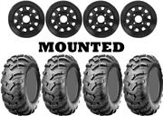 Kit 4 Cst Ancla Tires 25x8-12/25x11-12 On Itp Delta Steel Black Wheels Can