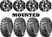 Kit 4 Cst Ancla Tires 25x10-12 On Itp Ss312 Black Wheels Irs