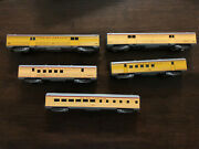 Set Of Five Athearn Ho Scale Union Pacific Passenger Cars