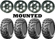 Kit 4 Cst Ancla Tires 25x10-12 On Itp Ss212 Matte Black Wheels Can
