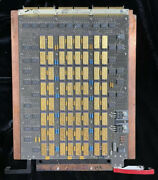 Cray X-mp Memory Board. Double Sides. Gold Micron Technology Ic Chips.