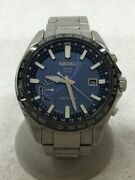 Secondhand Solar Watch Analog Stainless Steel Nvy 8x220al02 Clothing