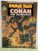 1973 Savage Tales Featuring Conan The Barbarian 2 Nm+ Off-white Pages Magazine