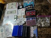 Amazing Coin Lot. 2 Silver Coins 17 Silver Quaters 2 Star Notes Proof Sets Etc.
