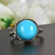 Tjc Sleeping Beauty Turquoise Engagement Solitaire Ring For Women Silver 5.33ct