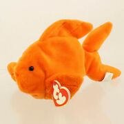Ty Beanie Baby - Goldie The Goldfish 3rd Gen Hang Tag - Mwnmts