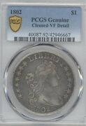 1802 Bust Dollar Pcgs Vf Details Cleaned