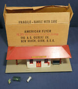 American Flyer 273 Red Suburban Railroad Station Never Used Orig Box Ac Gilbert
