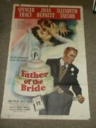 Father Of Ther Bride1950elizabeth Taylor Spencer Tracy Orig One Sheet Poster