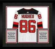 Frmd Jack Hughes Devils Signed White Auth Jersey And 2019 1 Pick Insc - Le 19