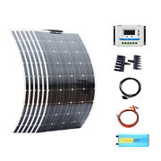 600w 6 100w Flexible Solar Panel 12v System Kit 60a Charge Controller Cables Rv