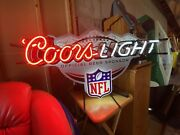 Coors Light Nfl Neon Bar Sign Rare Piece Exceptional Condition