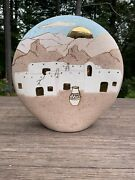Viviana Signed Native Pottery Sculptural Large Southwest New Mexico Art Adobo