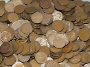 Lot Bag Of 5000 Lincoln Wheat Penny Cents Pennies 50 Face Value Coins Usa 1c