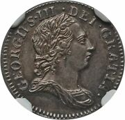 England George Iii 1762 Threepence Silver Coin, Uncirculated Certified Ngc Ms65