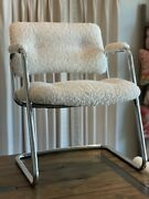2x Vintage Mid Century Modern Cantilever Lounge Chairs