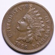1866 Indian Head Cent Penny Choice Au+ Free Shipping E626 Ucmg
