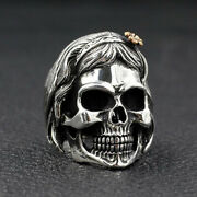 Gothic Punk Woman With Bangs Skull Unique Animal Ring Cyclist Jewelry Size 7-13