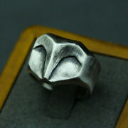 Gothic Punk Menand039s Fox Face Unique Animal Ring Cyclist Jewelry Gift Size 7-13