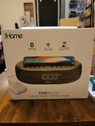 Ihome Timeboost Qi-certified Wireless Charging Alarm Clock With Bluetooth Speake