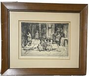 Jerome Myers New York City Etching